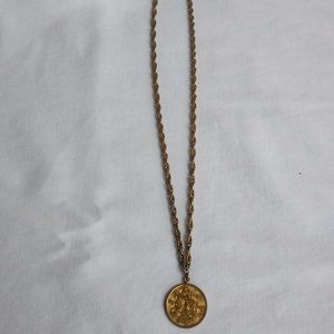 Vintage Libra Medallion Necklace by Sarah Coventry